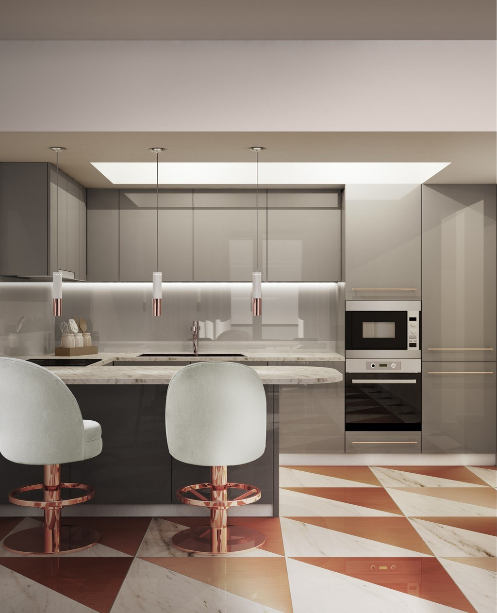 Counter stools for kitchen
