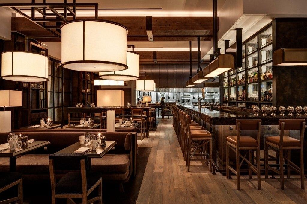 Bank Bourbon bar interior design ideas with contemporary bar stools