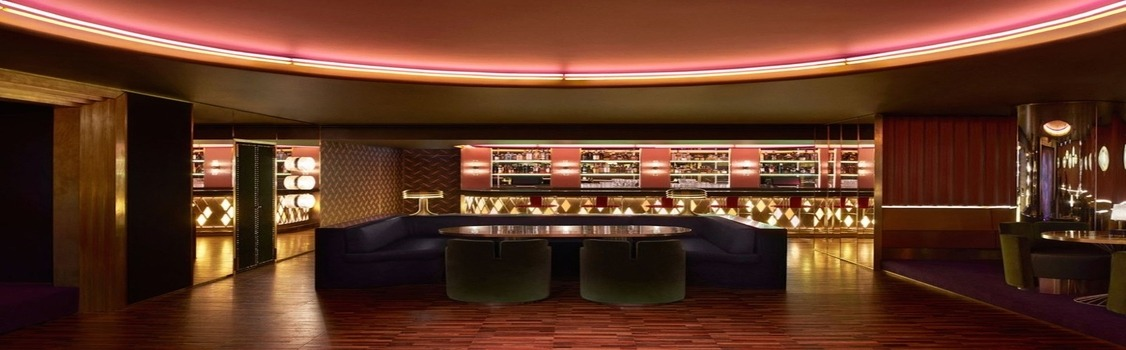 Dimore Studio interiors - an opulent bar furniture scheme at London