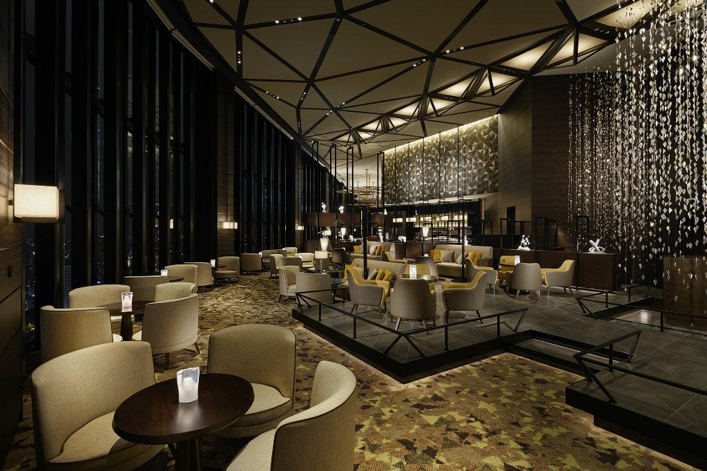 Bar decor ideas from Asian Bars - Sky bar lounge Osaka