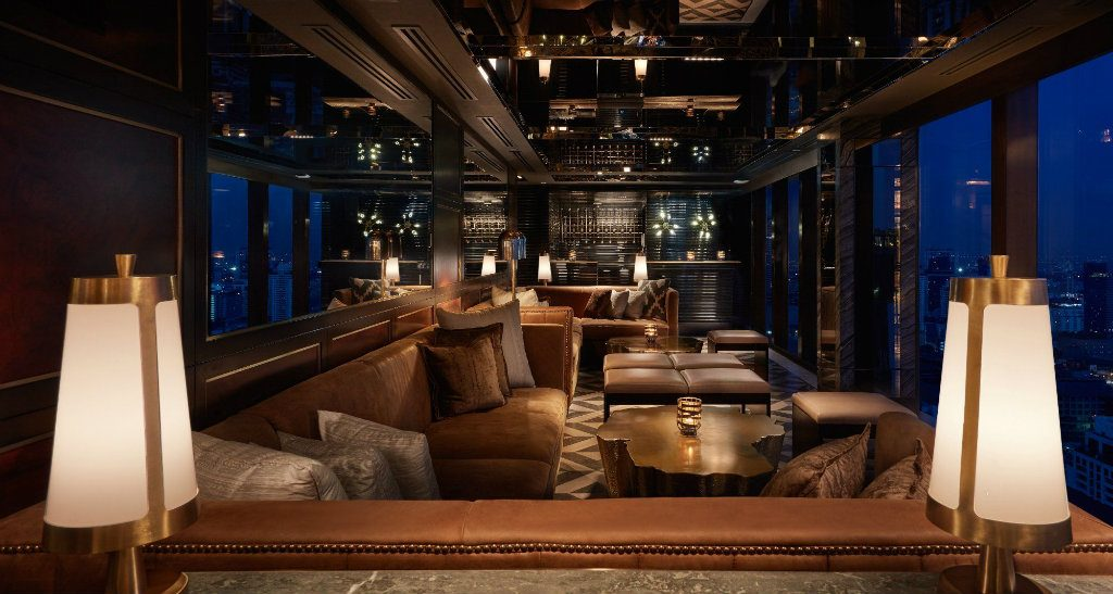 Avroko bar iinterior design ideas at Penthouse Grill Bangkok