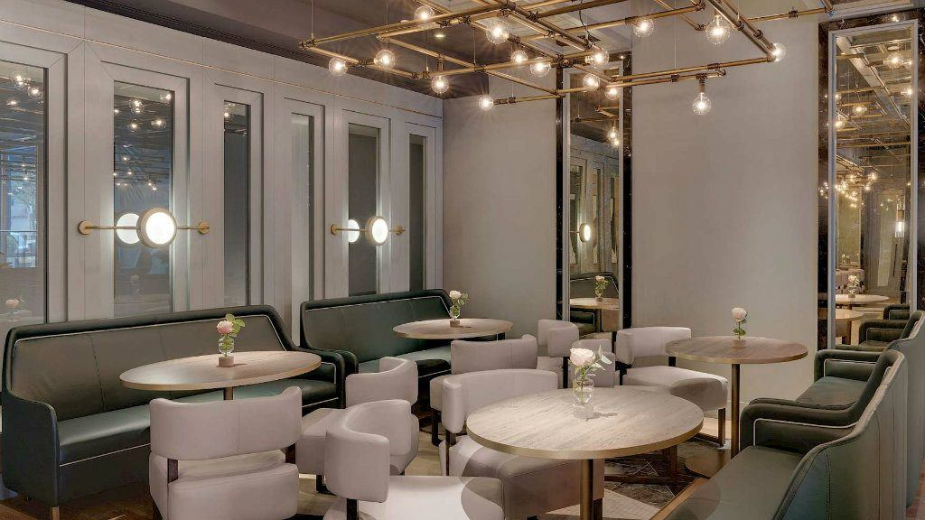 Juliet Rose Lounge bar seating area by Goddard Littlefair